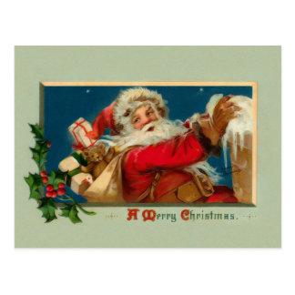 Vintage Kerstman Kerstmis Briefkaart