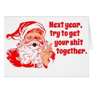 Vintage Kerstman, volgend jaar Kaart