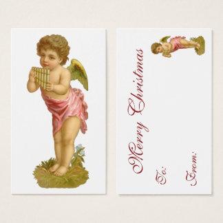 Vintage Kerstmis, de Engel van de Musicus met Visitekaartjes