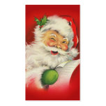 Vintage Kerstmis de Kerstman Visitekaartjes Sjabloon
