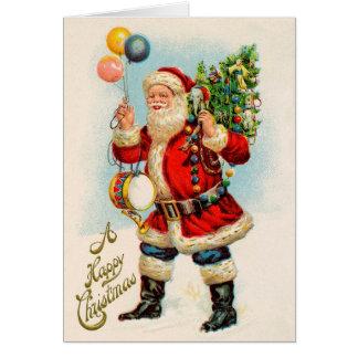 Vintage Kerstmis, de Victoriaans Ballons van de Briefkaarten 0