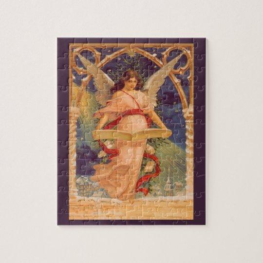 Vintage Kerstmis, de Victoriaans Bijbel van de Foto Puzzels