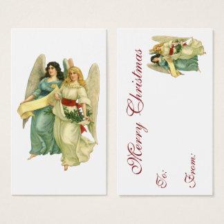 Vintage Kerstmis, Engelachtige Victoriaans Engelen Visitekaartjes