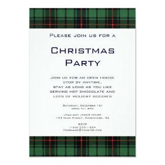 Vintage Kerstmis, Geruite Schotse wollen stof, Kaart