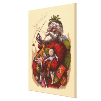 Vintage Kerstmis, het Victoriaans Speelgoed van de Canvas Afdruk