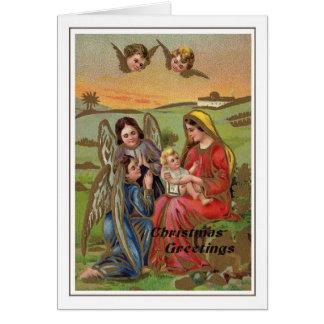 Vintage Kerstmis Kaart