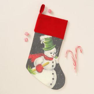 Vintage Kerstmis van de Sneeuwman Kerstsok