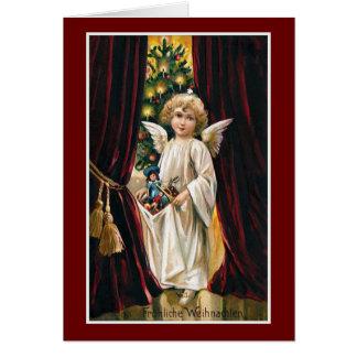 """Vintage Kerstmis van """"Frohliche Weihnachten"""" Briefkaarten 0"""