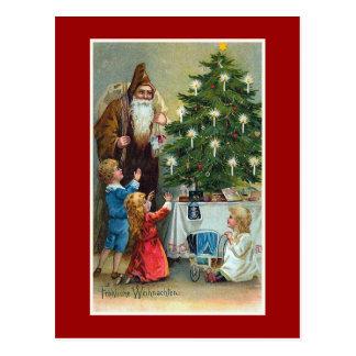 Vintage Kerstmis van Weihnachten van Frohliche Briefkaart