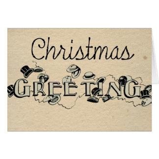 Vintage kijk de Groet van Kerstmis Briefkaarten 0