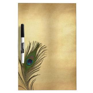 Vintage kijk de Veer van de Pauw op Goud Whiteboards