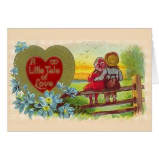 Vintage Kinderen in de Kaart van Valentijn van de