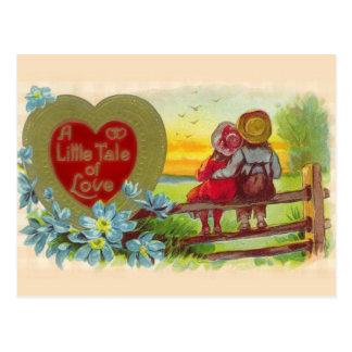 Vintage Kinderen in Liefde Valentijn Postacard Briefkaart