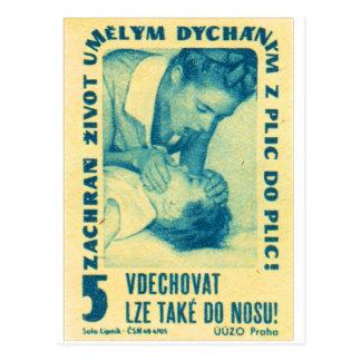 Vintage Kitsch Matchbook Tsjechische Mond aan Mond Briefkaart