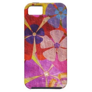 vintage kleurrijk bloemen vectorart. Case-Mate iPhone 5 hoesjes