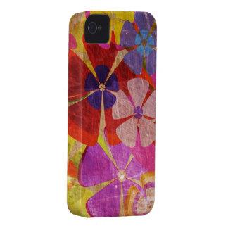 vintage kleurrijk bloemen vectorart. iPhone 4 hoesjes