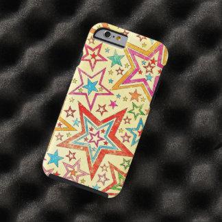 vintage kleurrijk sterren vectorart. tough iPhone 6 hoesje