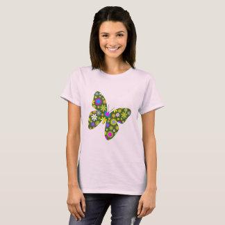 Vintage kleurrijke vlinder t shirt
