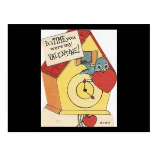Vintage Koekoek Valentijn Briefkaart