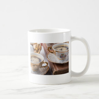 Vintage koffiepauze koffiemok