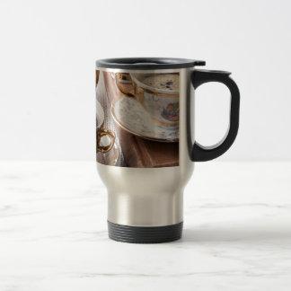Vintage koffiepauze reisbeker