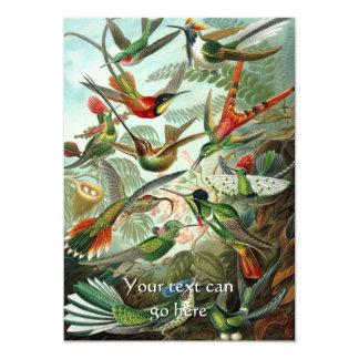 Vintage Kolibries 12,7x17,8 Uitnodiging Kaart