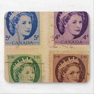 Vintage Koningin Royal Postzegels Mousepad Muismat
