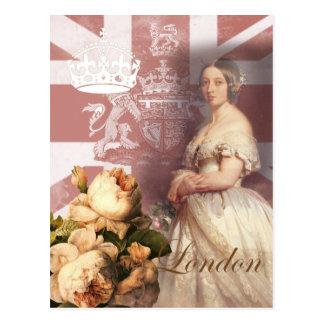 Vintage Koningin Victoria London Briefkaart