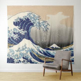 Vintage Kunst de Grote Golf van Kanagawa Wandkleed