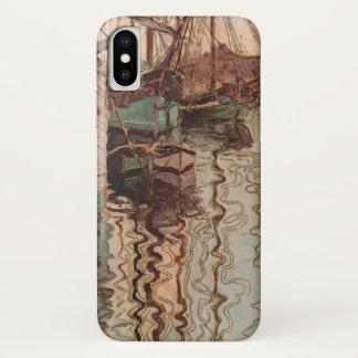 Vintage Kunst, Haven van Triëst door Egon Schiele iPhone X Hoesje