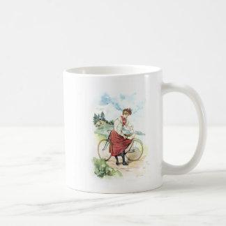 Vintage Kunst/Ouderwetse Fiets - Zwitserland Koffiemok