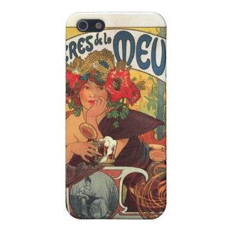 Vintage La Meuse van Bieres DE door Alphonse Mucha iPhone 5 Hoesjes