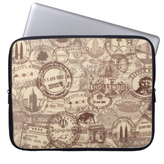 Vintage Laptop van de Zegels van het Paspoort Computer Sleeve