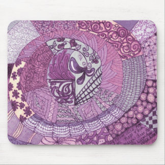 Vintage Lapwerk - viooltje Muismat