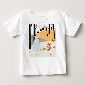 Vintage leuke de voswolf en teddybeer van de de baby t shirts