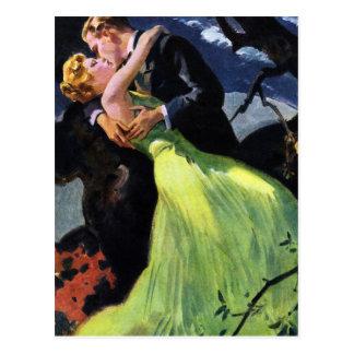 Vintage Liefde en Romaanse, Romantische Kus Briefkaart