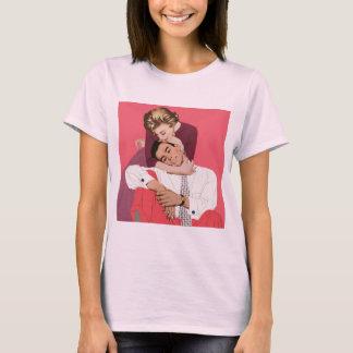 Vintage Liefde en Romance, Jonggehuwden in Roze T Shirt