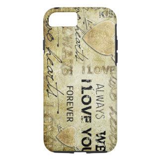 vintage liefde vectorart. iPhone 7 hoesje