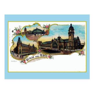 Vintage Litho Gruess aus oude Köeln Briefkaart