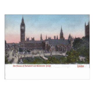 Vintage Londen, Paleis van Westminster pre-1904 Briefkaart