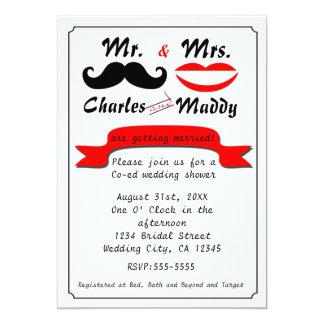 Vintage M. & Mevr. Wedding Invitations van de Snor Kaart