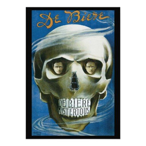 Vintage Magisch Poster; DE Biere Geheimzinnig Persoonlijke Uitnodiging