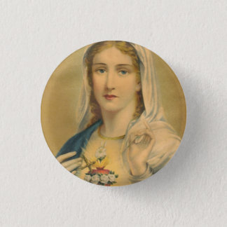 Vintage Mary Ronde Button 3,2 Cm