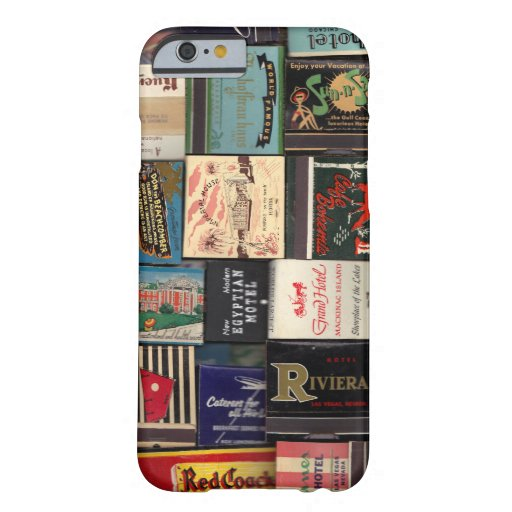 Vintage Matchbooks Barely There iPhone 6 Hoesje