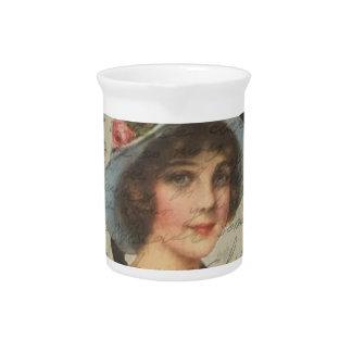 Vintage meisje drank pitcher