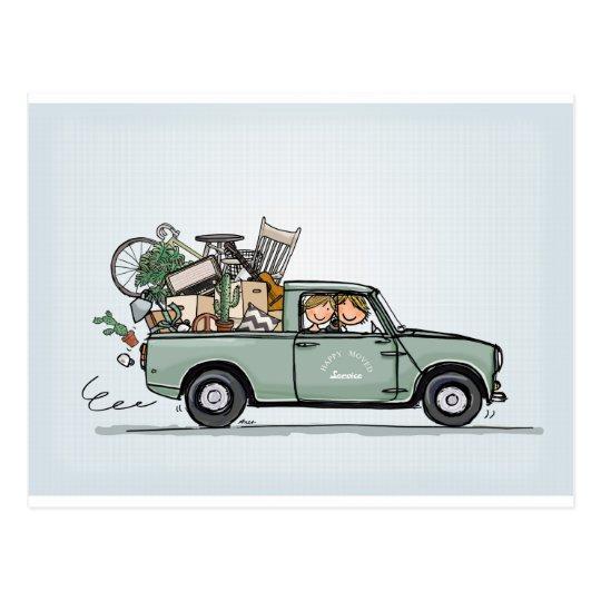 Vintage Mini Pickup Briefkaart