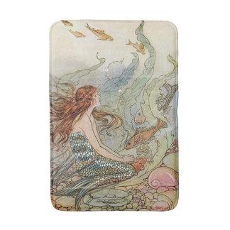 Vintage Mooie Meermin Girly onder het Zee Badmatten
