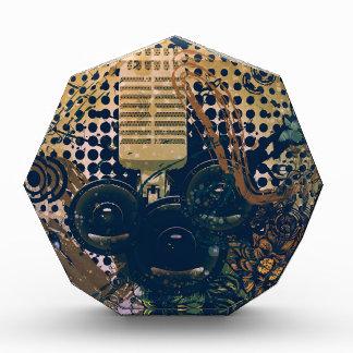 Vintage Muziek Microphone2 Acryl Prijs