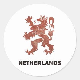 Vintage Nederland Ronde Stickers