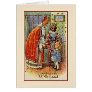 Vintage Nederlands St. Nicholas Wenskaart